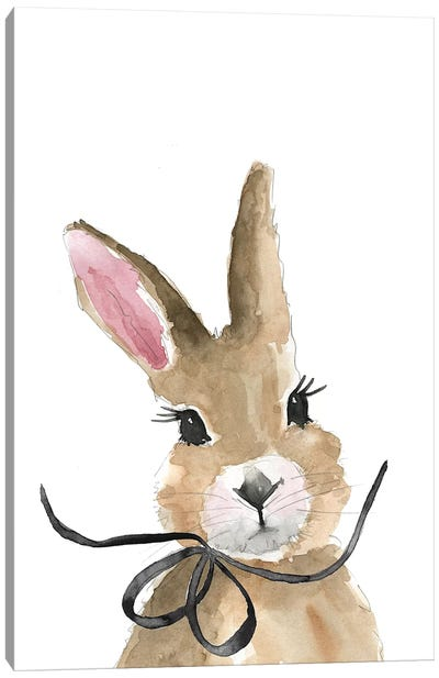 Bunny With Bow Canvas Art Print