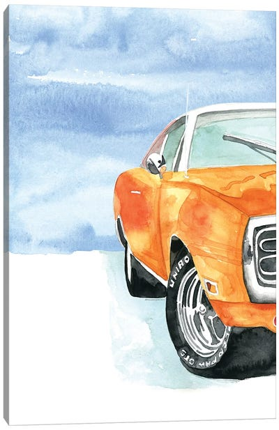 Classic Dodge Car Canvas Art Print