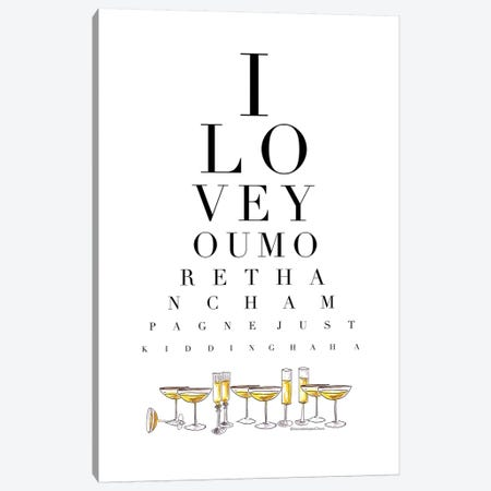 Champagne Eye Test Canvas Print #MLC93} by Mercedes Lopez Charro Canvas Artwork