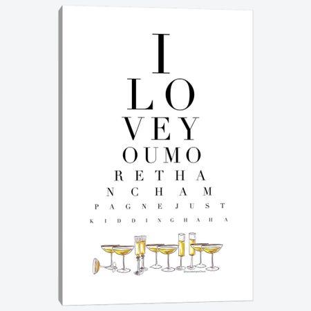 Champagne Eye Test Canvas Print #MLC93} by Mercedes Lopez Charro Canvas Artwork