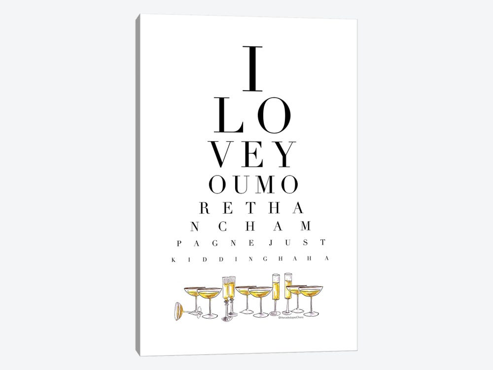 Champagne Eye Test by Mercedes Lopez Charro 1-piece Canvas Art