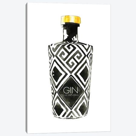Gin Is My Spirit Animal Canvas Print #MLC95} by Mercedes Lopez Charro Canvas Print