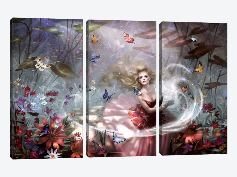 Make A Wish by Melanie Delon 3-piece Canvas Print