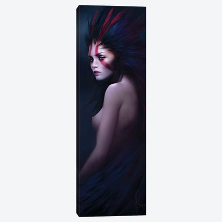 Black Swan Canvas Print #MLD7} by Melanie Delon Canvas Art Print