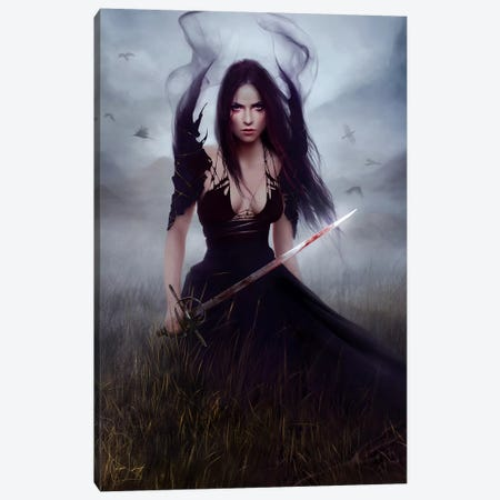 Blood Canvas Print #MLD8} by Melanie Delon Canvas Artwork
