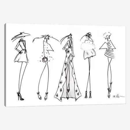 The Lineup Canvas Print #MLE26} by Em Elle Canvas Art