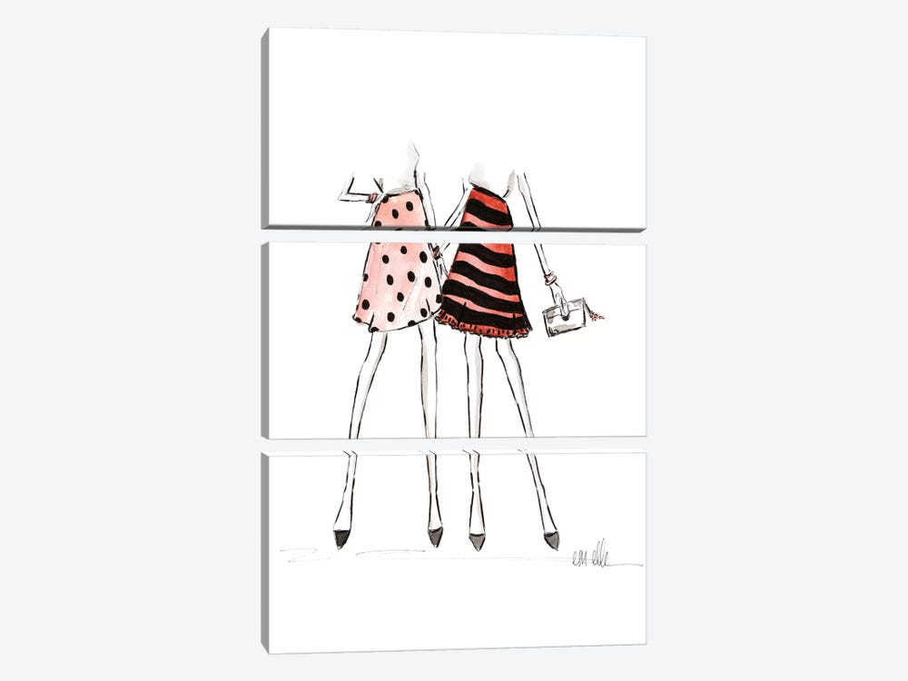 Among Friends by Em Elle 3-piece Art Print