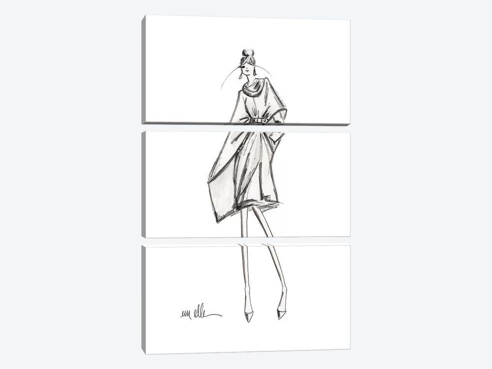 A Walk Down 6th by Em Elle 3-piece Canvas Art Print