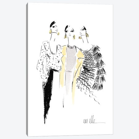 Girls Canvas Print #MLE52} by Em Elle Canvas Art