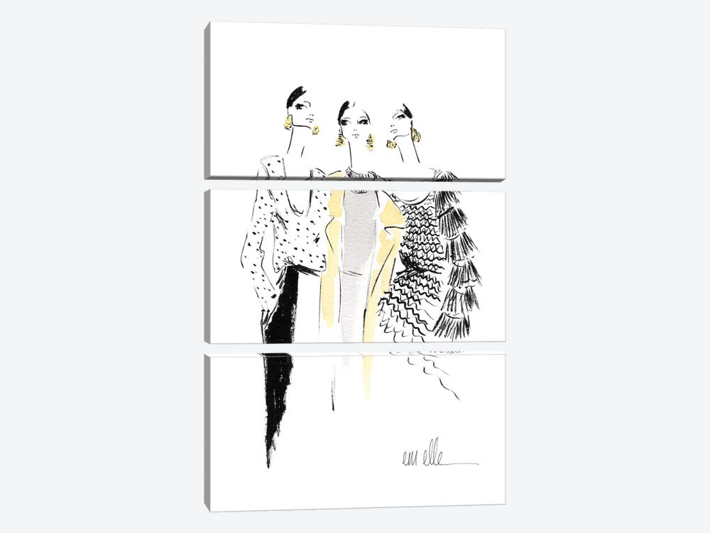 Girls by Em Elle 3-piece Art Print