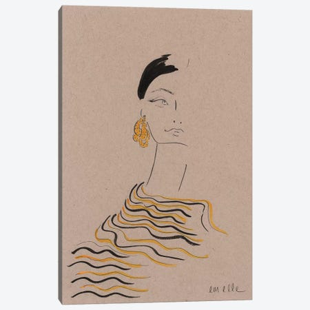 In Gold Canvas Print #MLE53} by Em Elle Canvas Art
