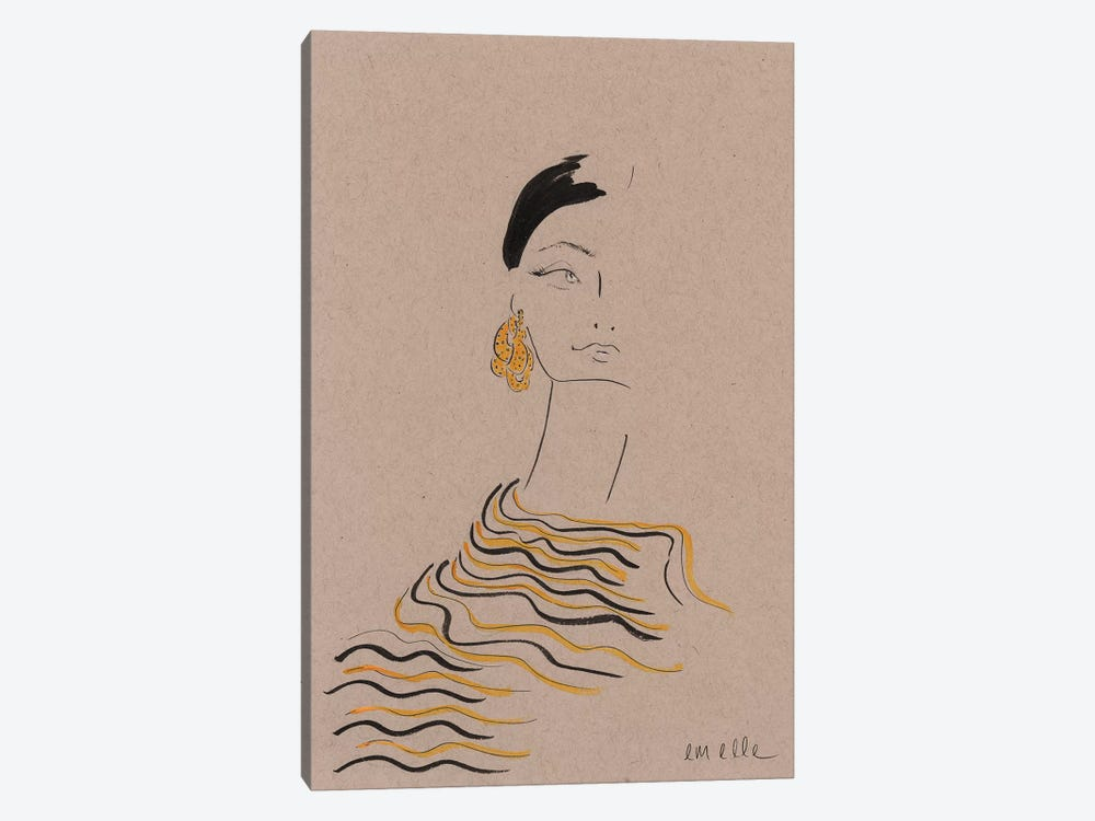 In Gold by Em Elle 1-piece Canvas Wall Art