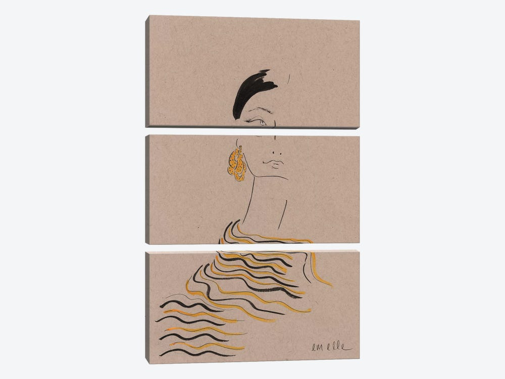 In Gold by Em Elle 3-piece Canvas Art
