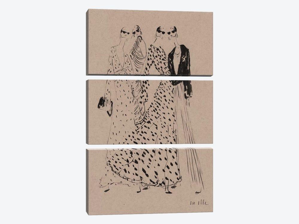 In September by Em Elle 3-piece Canvas Art Print