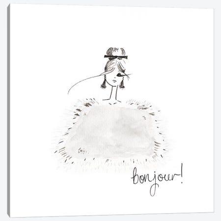 Bonjour Canvas Print #MLE7} by Em Elle Canvas Art