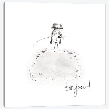Bonjour Canvas Print #MLE7} by Em Elle Canvas Art