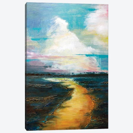 The Golden Road Canvas Print #MLG33} by Michelle Green Canvas Wall Art
