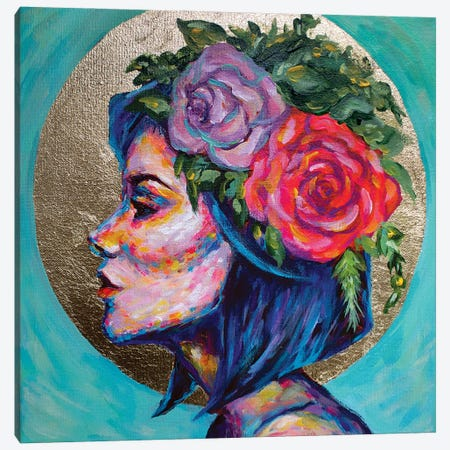 Aveline Canvas Print #MLG53} by Michelle Green Canvas Art