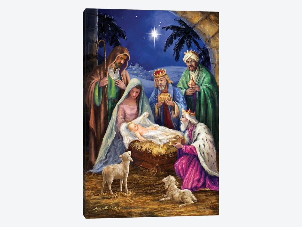 Holy Family With Three Kings by Marcello Corti 1-piece Canvas Art Print