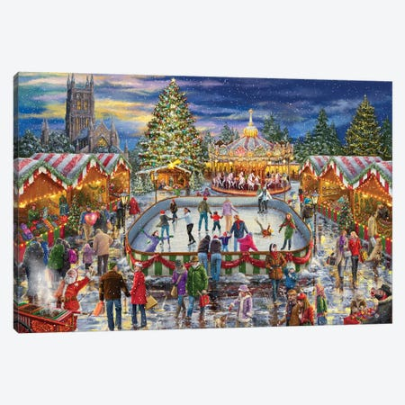 Winter Carnival Canvas Print #MLL22} by Marcello Corti Canvas Wall Art