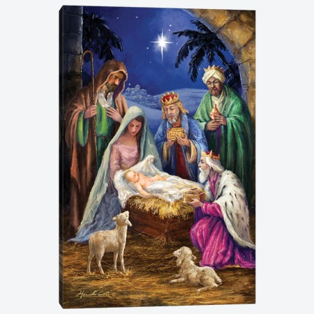Holy Family with 3 Kings Canvas Print #MLL23} by Marcello Corti Canvas Wall Art