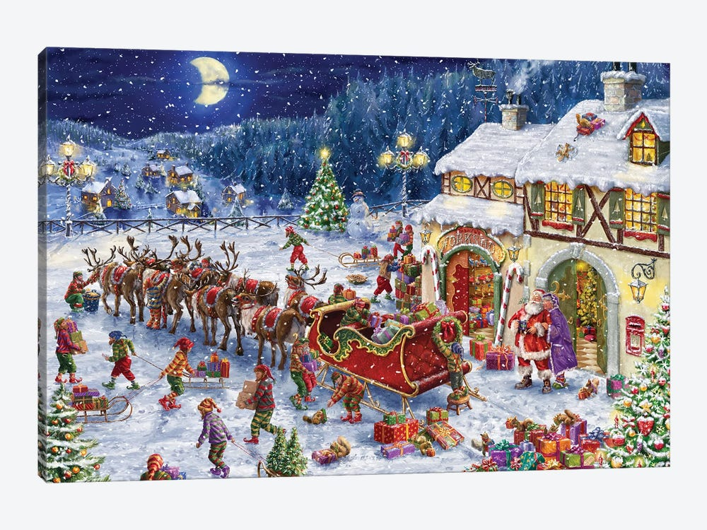 Packing up the Sleigh by Marcello Corti 1-piece Art Print