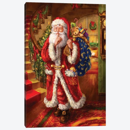 Santa-Staircase} by Marcello Corti Canvas Art