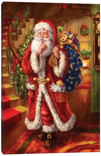 Santa-Staircase Canvas Art Print