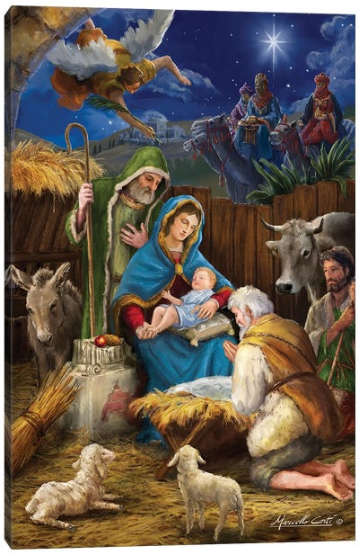 Mary And The Shepards Canvas Art Print