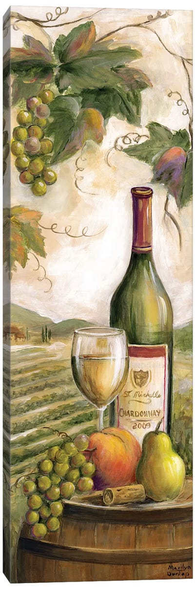 Wine Country White Canvas Art Print
