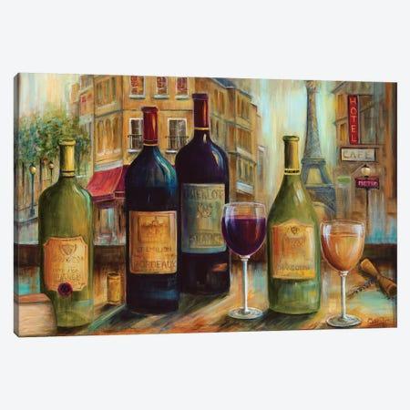 Bistro de Paris Canvas Print #MLN11} by Marilyn Dunlap Canvas Print