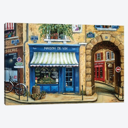 Maison de Vin Canvas Print #MLN14} by Marilyn Dunlap Canvas Art