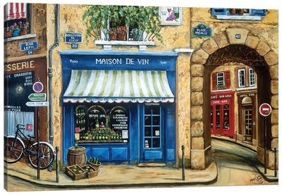 Maison de Vin Canvas Art Print