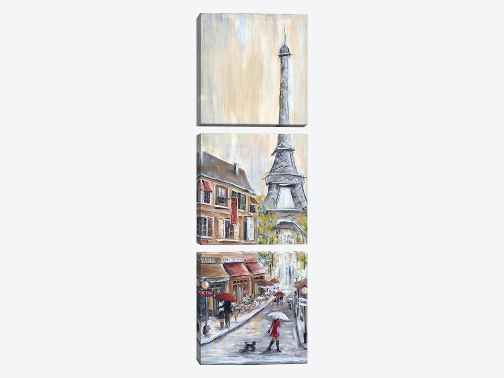 Paris Poodle by Marilyn Dunlap 3-piece Canvas Art Print