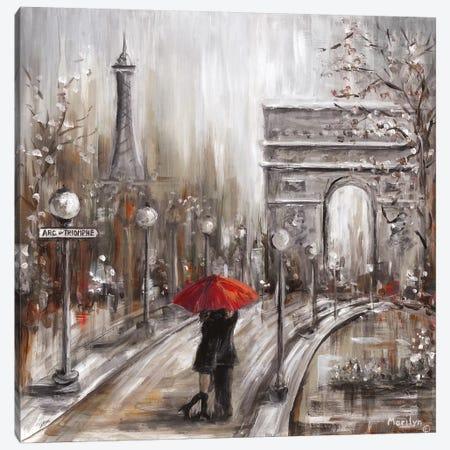 Rainy Embrace Canvas Print #MLN17} by Marilyn Dunlap Canvas Wall Art