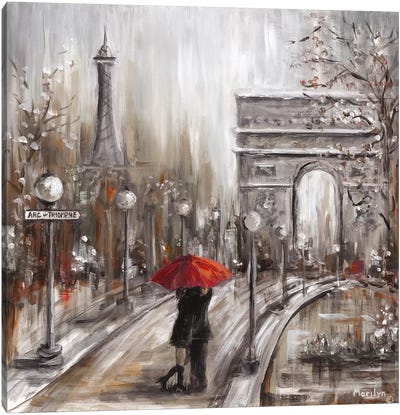Rainy Embrace Canvas Art Print