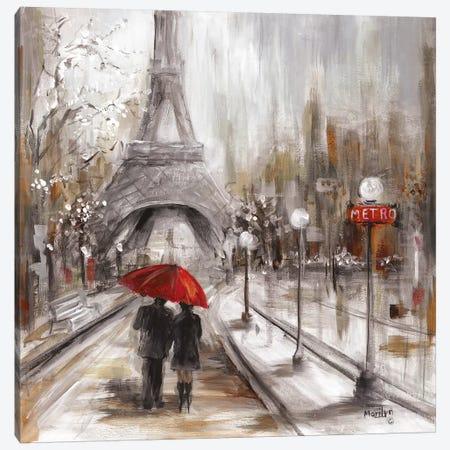 Rainy Paris Canvas Print #MLN18} by Marilyn Dunlap Art Print