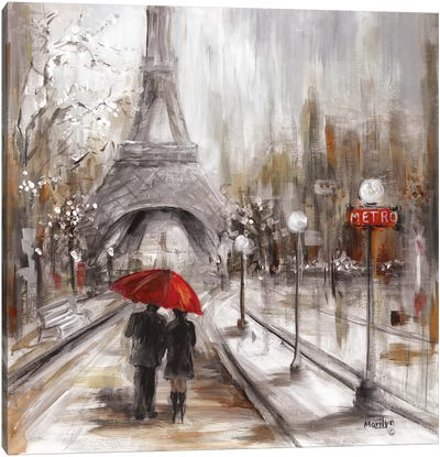 Rainy Paris Canvas Art Print