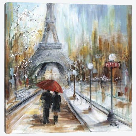 Romantic Paris Canvas Print #MLN19} by Marilyn Dunlap Canvas Print