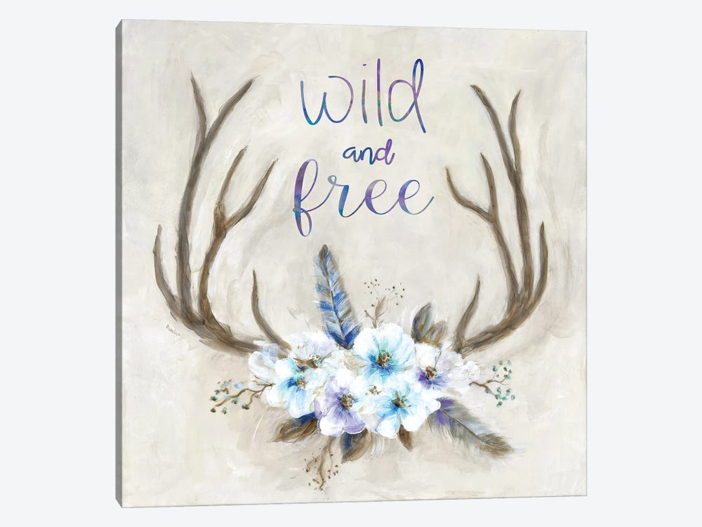 Boho Antlers by Marilyn Dunlap 1-piece Canvas Print