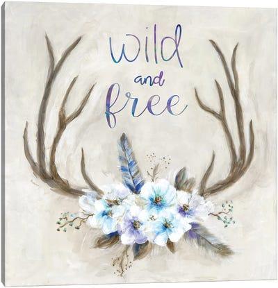 Boho Antlers Canvas Art Print