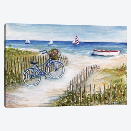Beach Ride I Canvas Print #MLN21} by Marilyn Dunlap Canvas Artwork