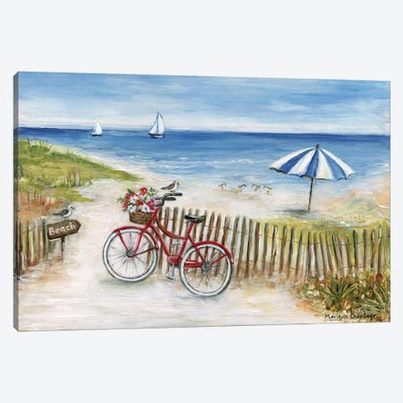 Beach Ride II Canvas Print #MLN22} by Marilyn Dunlap Canvas Wall Art