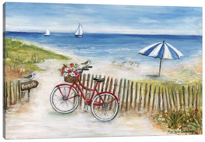 Beach Ride II Canvas Art Print