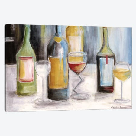 Wine Tasting Canvas Print #MLN23} by Marilyn Dunlap Canvas Art