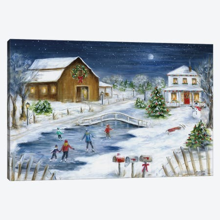 Winter Wonderland Canvas Print #MLN25} by Marilyn Dunlap Art Print