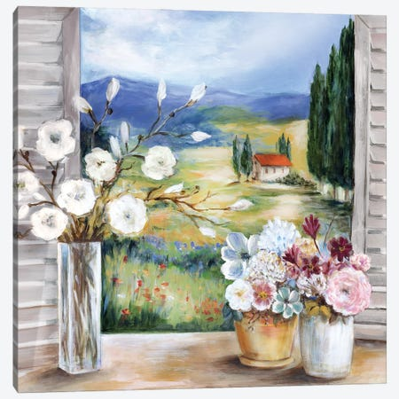 Afternoon in Tuscany Canvas Print #MLN26} by Marilyn Dunlap Art Print