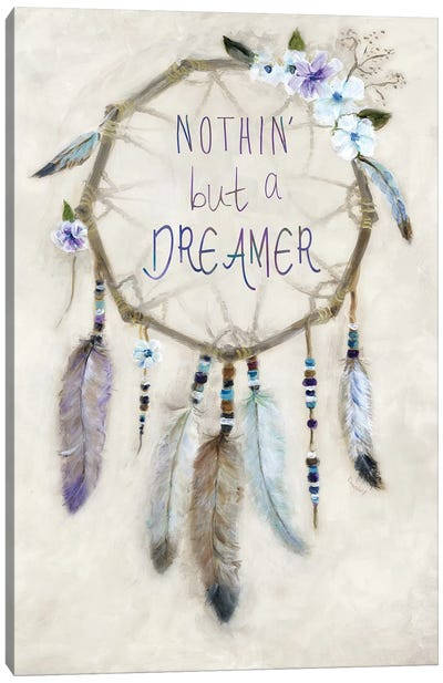 Boho Dreamcatcher Canvas Art Print