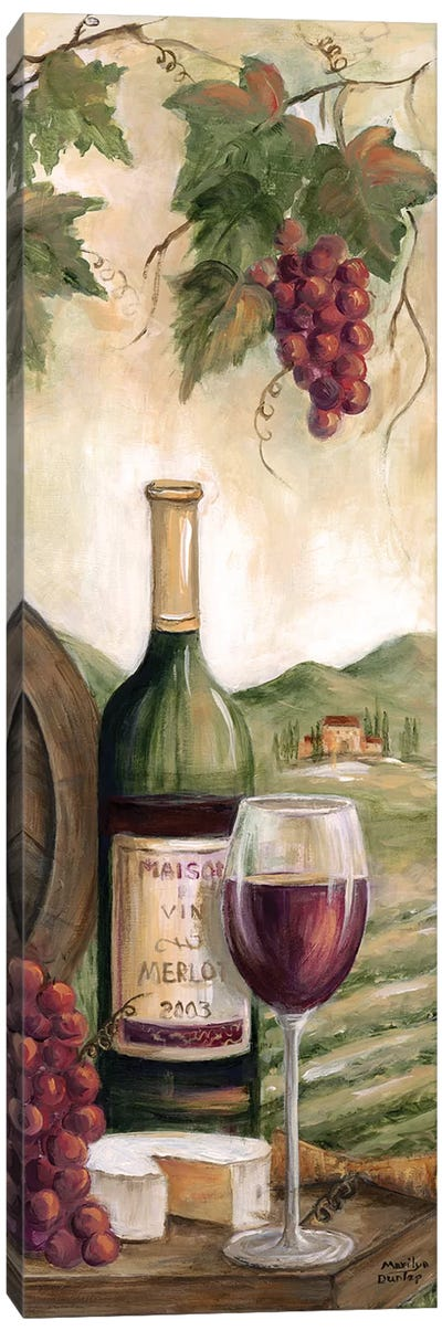 Wine Country Red Canvas Art Print