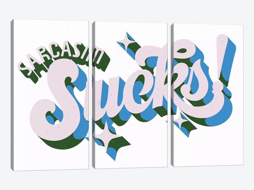 Sarcasm Sucks by Mathiole 3-piece Canvas Wall Art